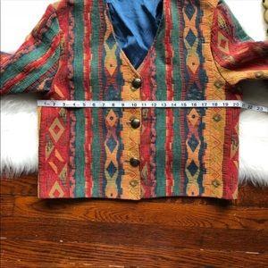 Vintage Jackets & Coats - Vintage 90s Geometric Short Layering Jacket
